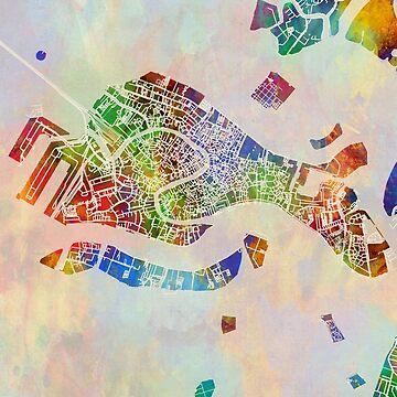 Venice Italy City Map by ArtPrints