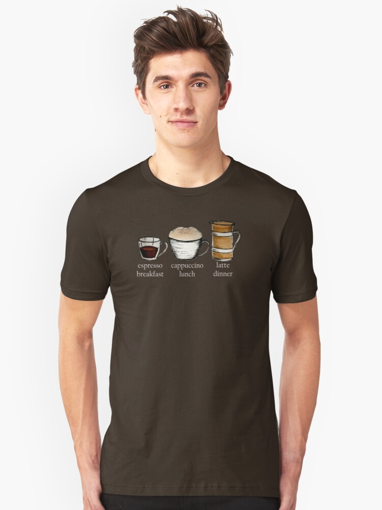 Breakfast, lunch & dinner Text Tee Unisex T-Shirt Front