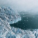 Mysterious Silent Glacier - Aerial Landscapes by Michael Schauer