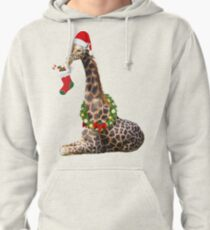Christmas  Giraffe  Pullover Hoodie