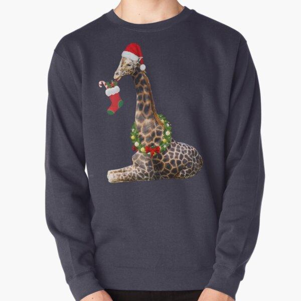Christmas  Giraffe  Pullover Sweatshirt