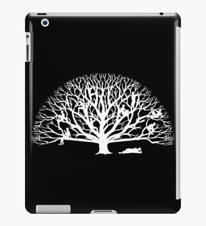 Tree Dwelling White Silhouette iPad Case/Skin