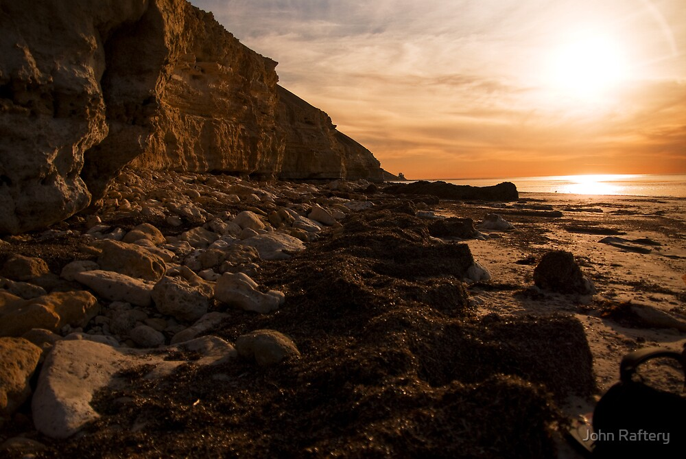 Pt Willunga at Sunset by John Raftery