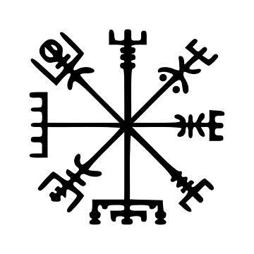 Vegvísir (Viking Compass) by tinybiscuits