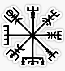 Vegvísir (Viking Compass) Sticker