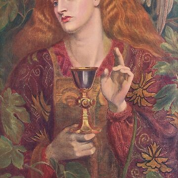 The Damsel of the Sanct Grael, (Holy Grail) by Dante Gabriel Rossetti (1828-1882) by artfromthepast