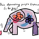 Dancing Purple Elephant by Beth A.  Richardson