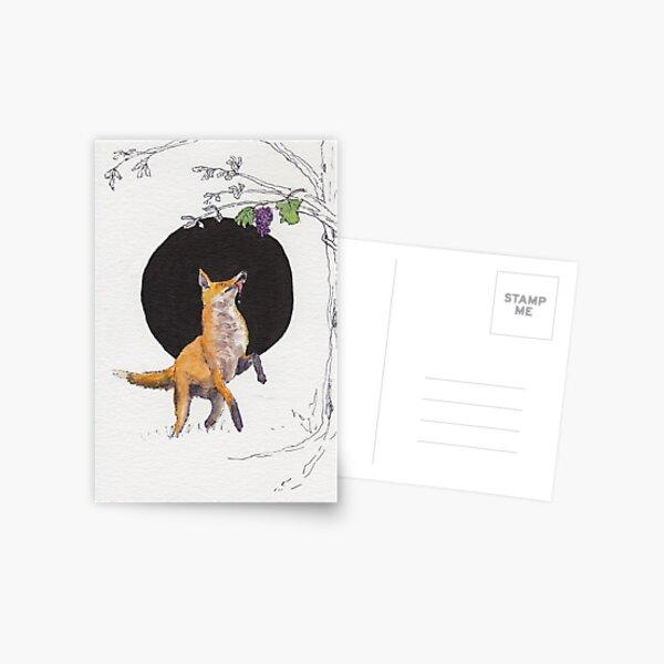 Fox and Grapes Postcard