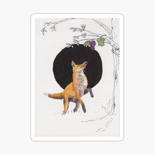 Fox and Grapes Sticker