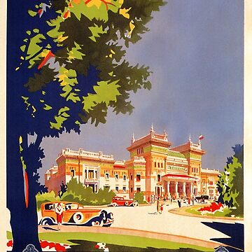 Salsomaggiore art deco vintage Italian travel ad by aapshop