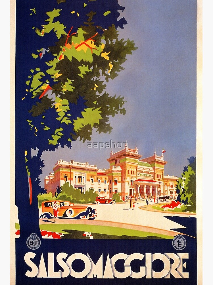 Vintage Travel Poster ITALY Travel Print Travel Art Travel Ad Art Deco Poster It