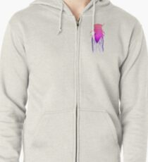 cicada (for white) Zipped Hoodie
