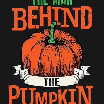 The Man Behind The Pumpkin Art Cool Halloween Costume Gift by NBRetail