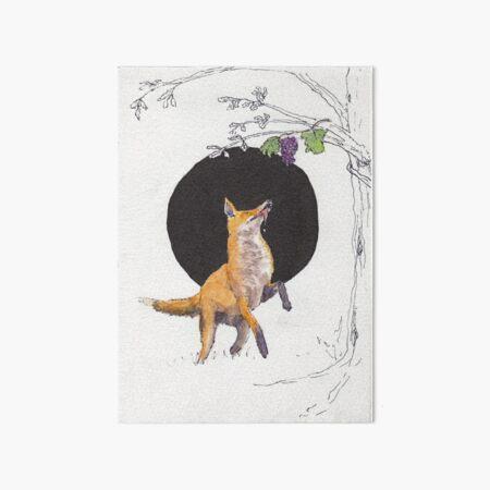 Fox and Grapes Art Board Print