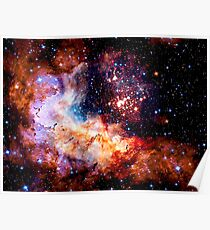 Cosmic Connection, Galaxy, Space, Nebula, Stars, Planet, Universe,  Poster