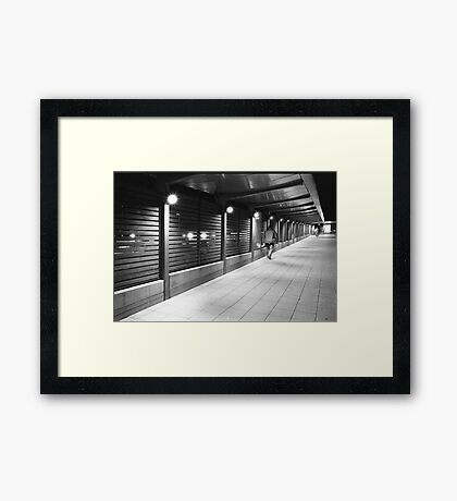 decky walks the line Framed Print