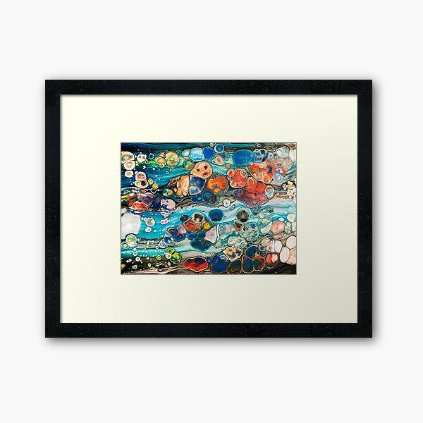 The river bed... Framed Art Print