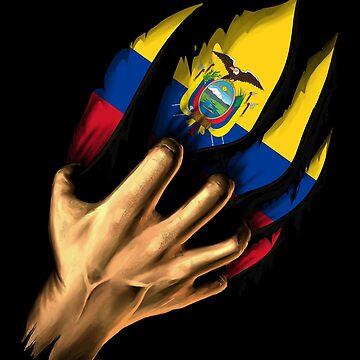 Ecuadorean in Me Ecuador Flag DNA Heritage Roots Gift  by nikolayjs