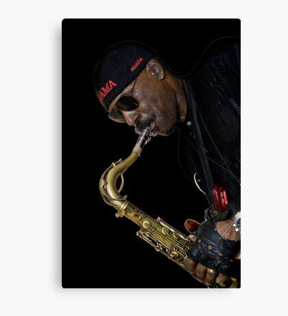 Fiery sax Canvas Print