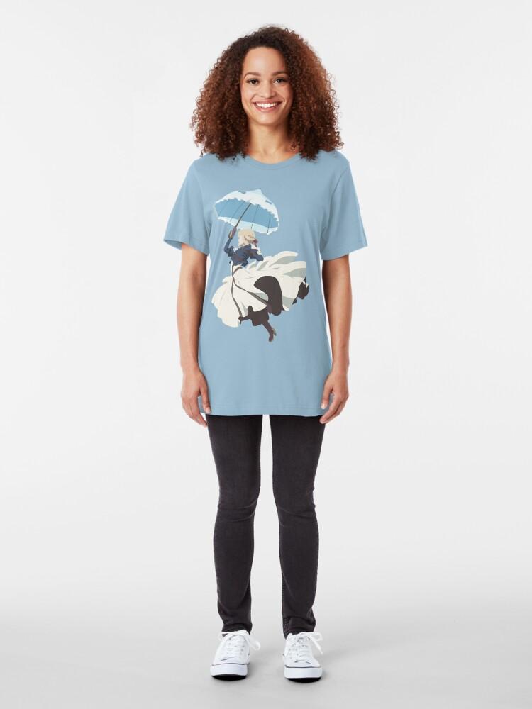 Alternate view of Violet Evergarden - Parasol - Minimalist Art Slim Fit T-Shirt