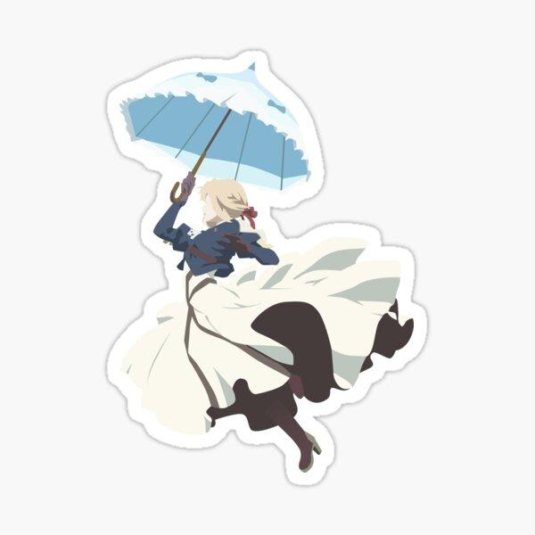 Violet Evergarden - Parasol - Art minimaliste Sticker