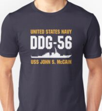 USS John S. McCain Slim Fit T-Shirt
