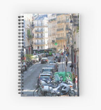 Typical Paris street view Spiral Notebook