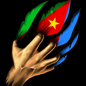 Eritrean in Me Eritrea Flag DNA Heritage Roots Gift  by nikolayjs
