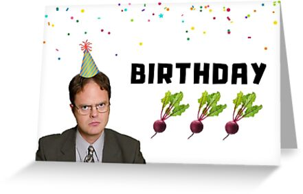 The Office Birthday Card Dwight Meme Greeting Cards