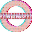 aesthetic floral 3D subway logo by sarahbubble