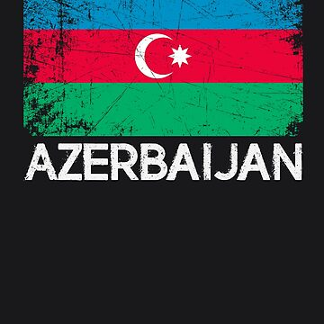 Azeri Flag Design | Vintage Made In Azerbaijan Gift by melsens