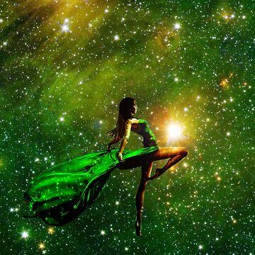 LADY IN STARS  by johnnyssandart