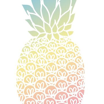 Pastel Pineapple by julieerindesign
