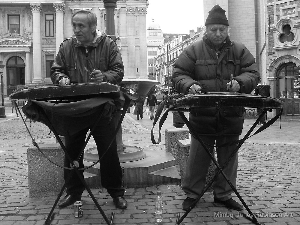 """beautiful buskers in Brussels"" by Mimby Jones Robinson Esquire"