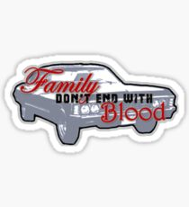 """Supernatural - Impala """"Family Don't End With Blood"""" Sticker"""