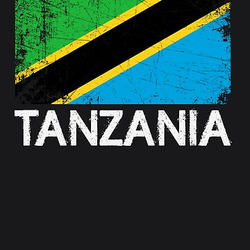 Tanzanian Flag Design | Vintage Made In Tanzania Gift by melsens