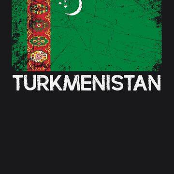 Turkmen Flag Design | Vintage Made In Turkmenistan Gift by melsens
