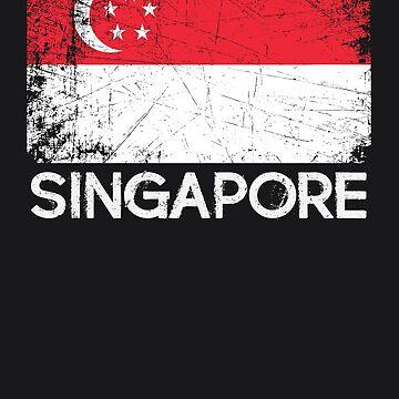 Singaporean Flag Design | Vintage Made In Singapore Gift by melsens