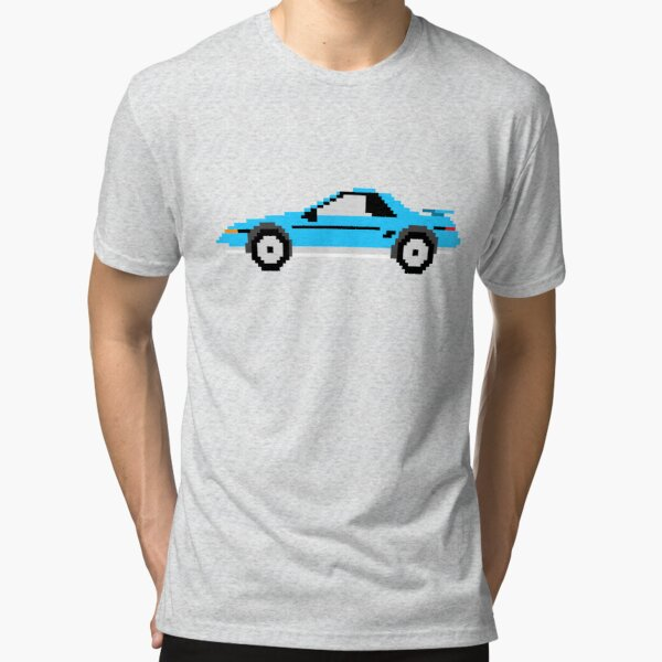 8Bit American Mid-Engine Sportscar Tri-blend T-Shirt