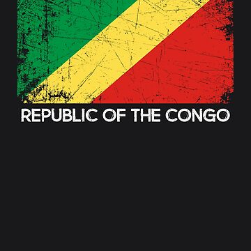 Congolese Flag Design | Vintage Made In Congo Republic Gift by melsens