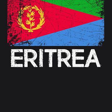 Eritrean Flag Design | Vintage Made In Eritrea Gift by melsens