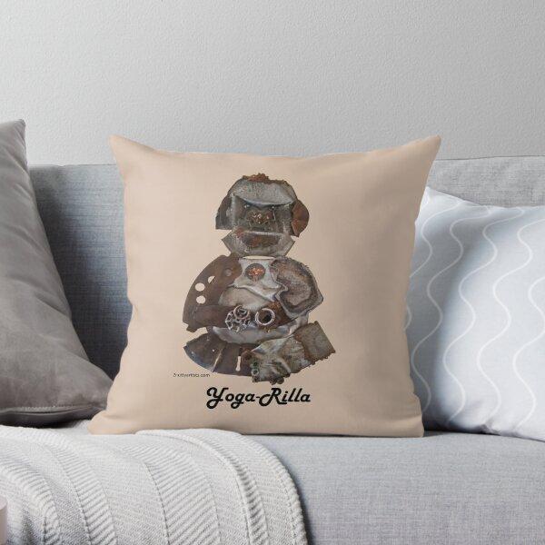 Gorilla the Yoga-Rilla Throw Pillow