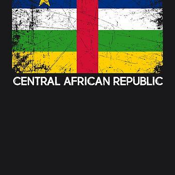 Flag Design | Vintage Made In Central African Republic Gift by melsens