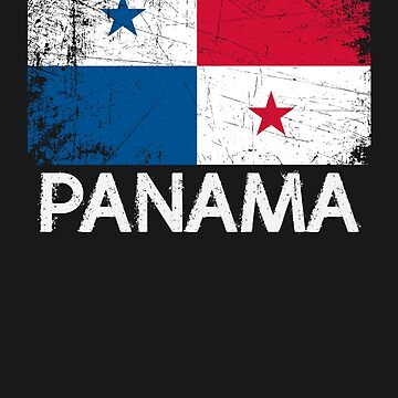 Panamanian Flag Design | Vintage Made In Panama Gift by melsens