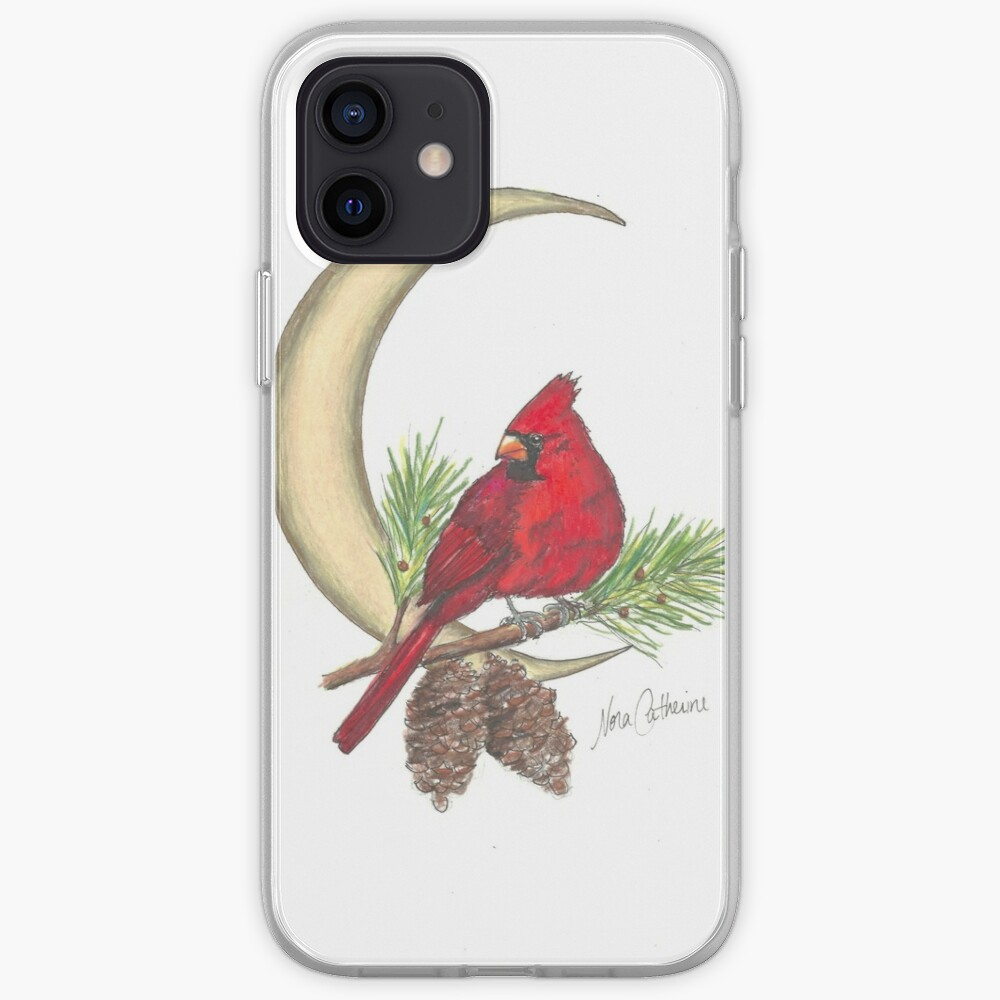 Cardinal - watching over me iPhone Case & Cover