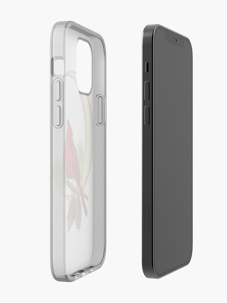 Alternate view of Cardinal - watching over me iPhone Case & Cover