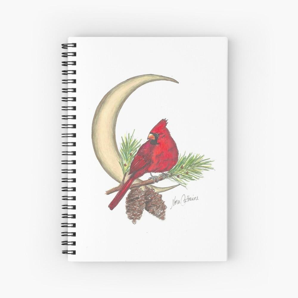 Cardinal - watching over me Spiral Notebook