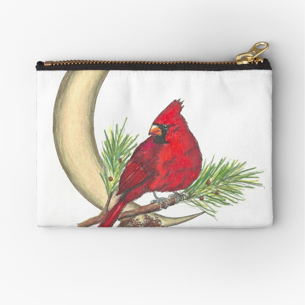 Cardinal - watching over me Zipper Pouch
