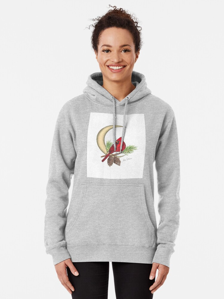 Alternate view of Cardinal - watching over me Pullover Hoodie