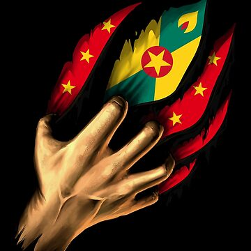 Grenadian in Me Grenada Flag DNA Heritage Roots Gift  by nikolayjs